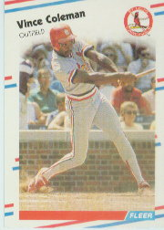 1988 Fleer Baseball Cards      027      Vince Coleman