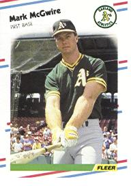 1988 Fleer Baseball Cards      286     Mark McGwire