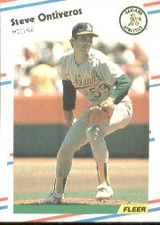 1988 Fleer Baseball Cards      289     Steve Ontiveros