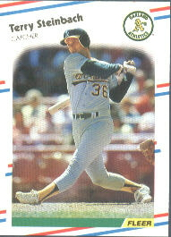 1988 Fleer Baseball Cards      294     Terry Steinbach