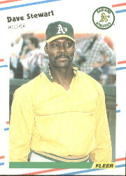 1988 Fleer Baseball Cards      295     Dave Stewart