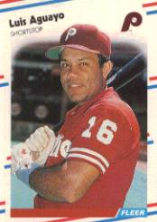 1988 Fleer Baseball Cards      297     Luis Aguayo