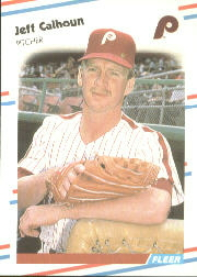 1988 Fleer Baseball Cards      299     Jeff Calhoun