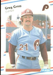 1988 Fleer Baseball Cards      302     Greg Gross