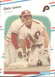 1988 Fleer Baseball Cards      307     Chris James