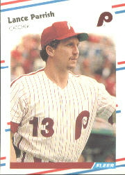 1988 Fleer Baseball Cards      310     Lance Parrish
