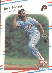 1988 Fleer Baseball Cards      314     Juan Samuel