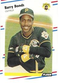 1988 Fleer Baseball Cards      322     Barry Bonds