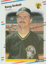 1988 Fleer Baseball Cards      327     Doug Drabek