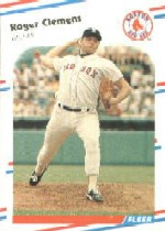 1988 Fleer Baseball Cards      349     Roger Clemens