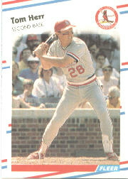 1988 Fleer Baseball Cards      035      Tom Herr