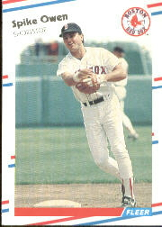 1988 Fleer Baseball Cards      359     Spike Owen