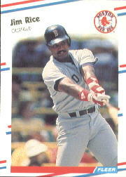 1988 Fleer Baseball Cards      361     Jim Rice