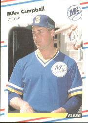 1988 Fleer Baseball Cards      372     Mike Campbell