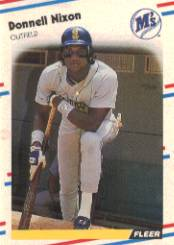 1988 Fleer Baseball Cards      382     Donell Nixon