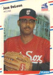 1988 Fleer Baseball Cards      395     Jose DeLeon