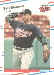 1988 Fleer Baseball Cards      004      Bert Blyleven