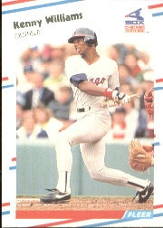 1988 Fleer Baseball Cards      412     Ken Williams