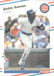 1988 Fleer Baseball Cards      415     Andre Dawson