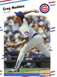 1988 Fleer Baseball Cards      423     Greg Maddux