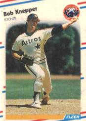 1988 Fleer Baseball Cards      451     Bob Knepper