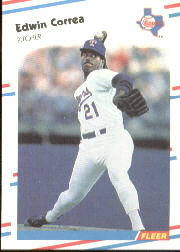 1988 Fleer Baseball Cards      464     Edwin Correa