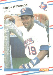 1988 Fleer Baseball Cards      481     Curtis Wilkerson