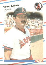 1988 Fleer Baseball Cards      484     Tony Armas