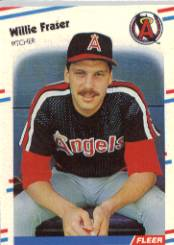 1988 Fleer Baseball Cards      490     Willie Fraser UER#{(Wrong bio stats&#{for George H