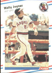 1988 Fleer Baseball Cards      493     Wally Joyner