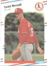 1988 Fleer Baseball Cards      050      Todd Worrell
