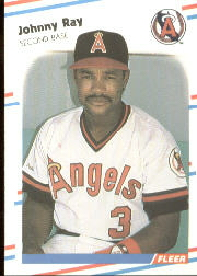 1988 Fleer Baseball Cards      502     Johnny Ray