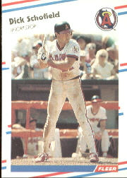 1988 Fleer Baseball Cards      504     Dick Schofield