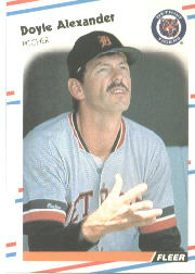 1988 Fleer Baseball Cards      051      Doyle Alexander