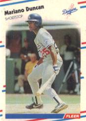 1988 Fleer Baseball Cards      513     Mariano Duncan