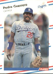 1988 Fleer Baseball Cards      514     Pedro Guerrero