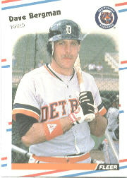 1988 Fleer Baseball Cards      052      Dave Bergman