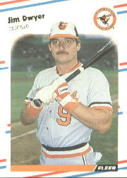 1988 Fleer Baseball Cards      558     Jim Dwyer