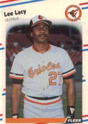 1988 Fleer Baseball Cards      565     Lee Lacy