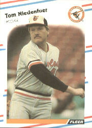 1988 Fleer Baseball Cards      568     Tom Niedenfuer