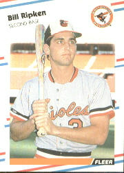 1988 Fleer Baseball Cards      569     Bill Ripken RC*