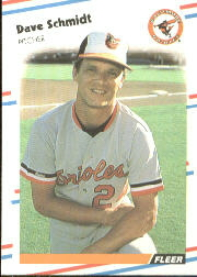 1988 Fleer Baseball Cards      571     Dave Schmidt