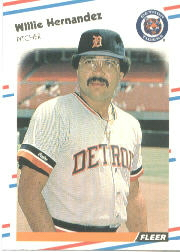 1988 Fleer Baseball Cards      058      Willie Hernandez