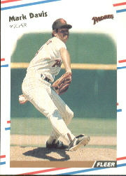 1988 Fleer Baseball Cards      581     Mark Davis