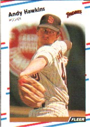 1988 Fleer Baseball Cards      586     Andy Hawkins