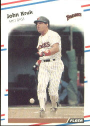 1988 Fleer Baseball Cards      589     John Kruk