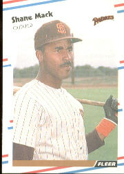 1988 Fleer Baseball Cards      590     Shane Mack