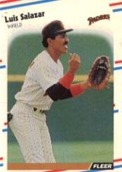 1988 Fleer Baseball Cards      595     Luis Salazar
