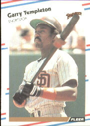 1988 Fleer Baseball Cards      598     Garry Templeton