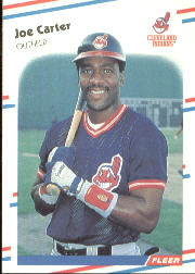 1988 Fleer Baseball Cards      605     Joe Carter